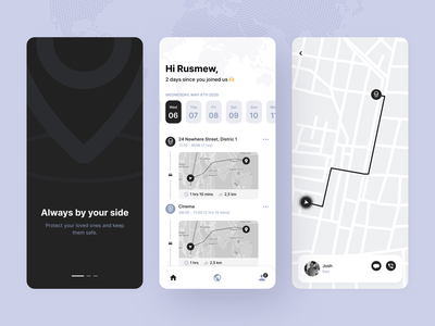 Location App uiux pin clean ui dark ui app location tracker location app web design product design mobile app mobile ui interface ux ui creative illustration