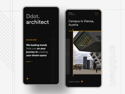 Architect App Concept dark app dark theme dark mode dark ui concept architechture architect creative minimal web design product design mobile branding website uiux ux design ux ui