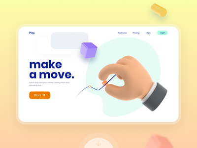 💰 wallet balance ux ui bank banking online money financial interface fintech web design product design transaction money card finance graphic illustration