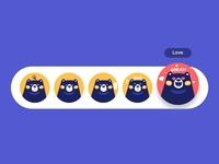 Mascot's emotions