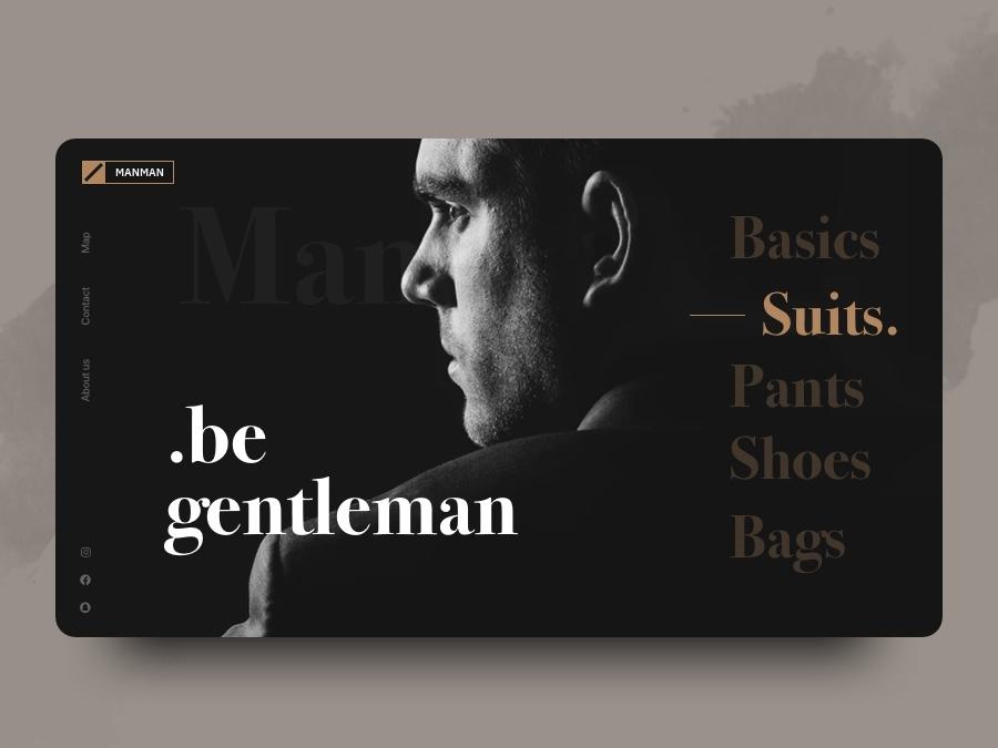 Web design concept minimalism dark theme black fashion website uxdesign uxui uidesign ui inspiration creative graphic rubynguyenart