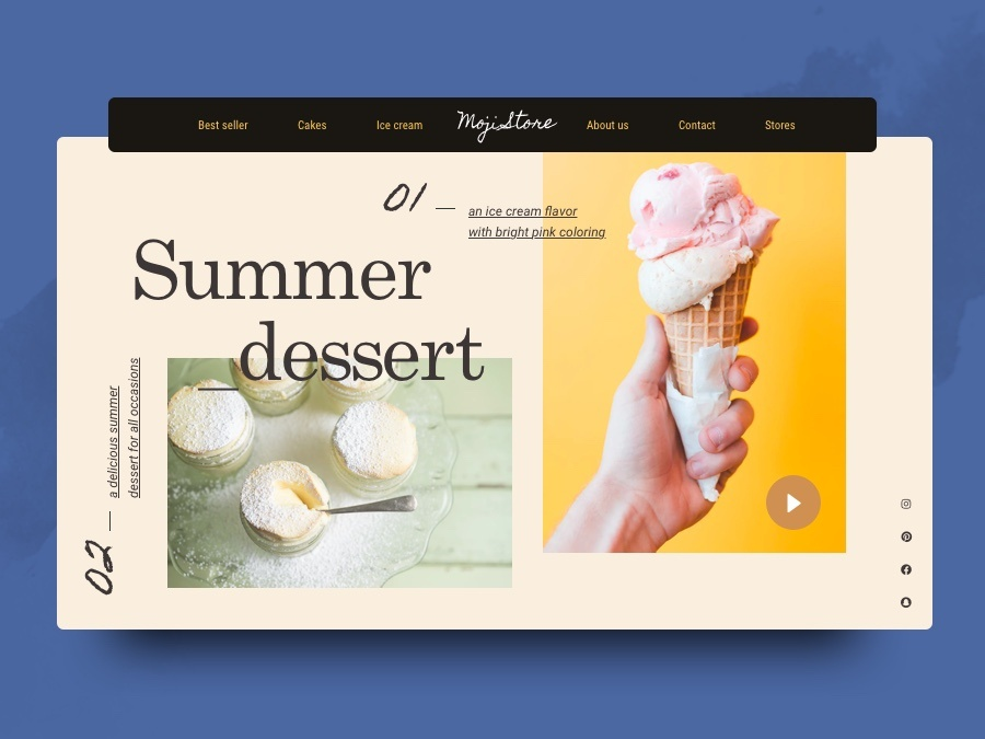 Cake or Ice cream? web website color palette stores concept ui interface branding layout design inspiration creative graphic rubynguyenart