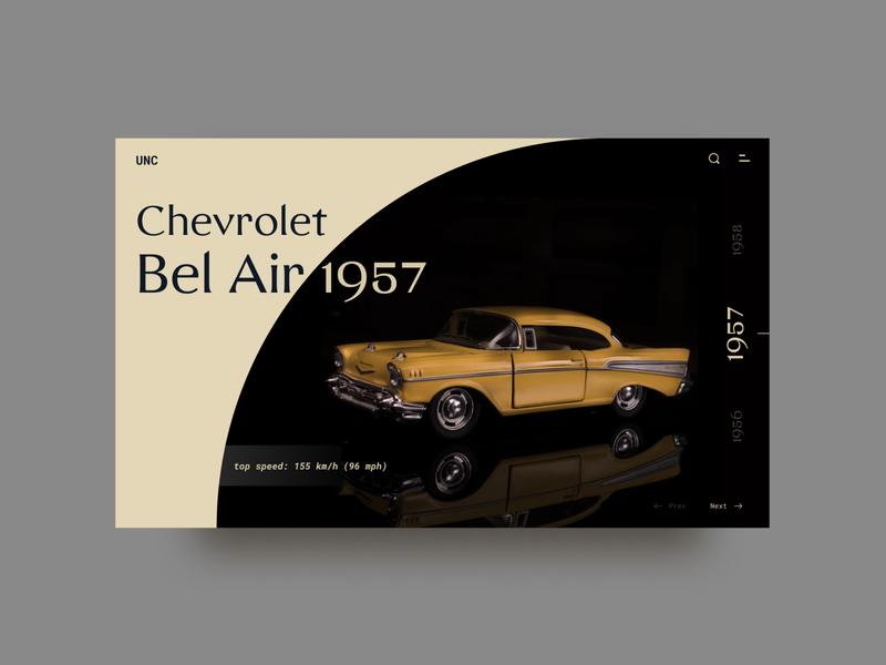 Back in time car layout landingpage website retro vintage ux ui creative inspiration graphic