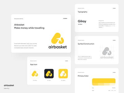 Airbasket Identity branding agency visual identity brand identity travel minimal branding identity logo ui creative