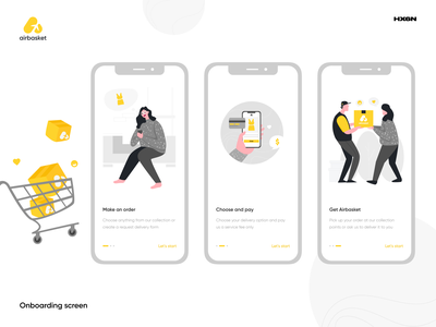 Airbasket onboarding shop traveller uiux digital ecommerce product design mobile branding interface art website ui inspiration graphic creative rubynguyenart illustration