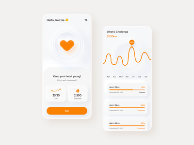 Running App mobile web design product design mobile ui clean ui healthy running app uiux interface ux ui inspiration creative graphic illustration rubynguyenart