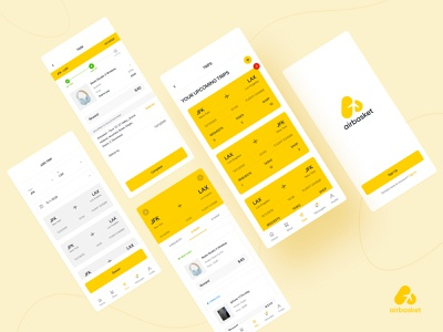 Airbasket app flight app traveller ui design mobile ui web design product design userinterface app uiux interface ux ui website inspiration creative graphic rubynguyenart