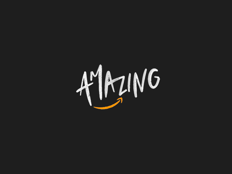 Amazon ⇢ Amazing Hand Lettering typography type calligraphy procreate amazon handlettering lettering