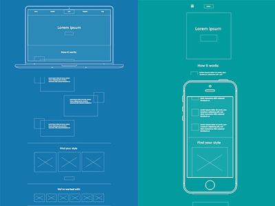 UX Wireframe Presentation ux design web design mobile ui web ui wireframing wireframe ux ui