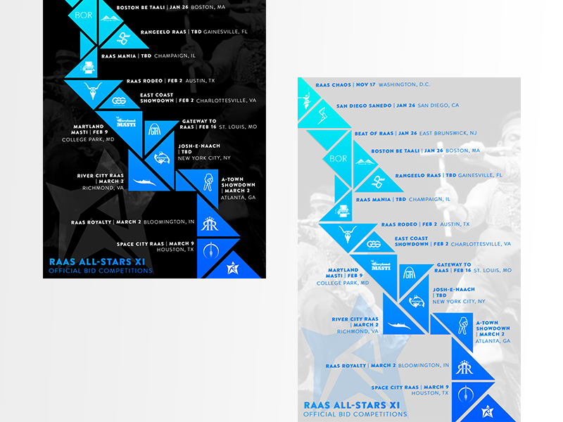 Timeline Flyer triangle gradient design marketing collateral flyer designs polygon design polygon branding design event design flyer artwork flyer design gradient event marketing flyer branding