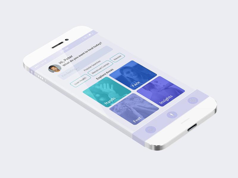 Acupressure App Concept ui design ui development health care health app medicine medicine app acupressure ui elements ui concept uxui design design user interface interface ux ui