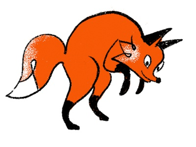 Fox jumping orange logo character orange hunt orange is the new black hunting fox orange fox