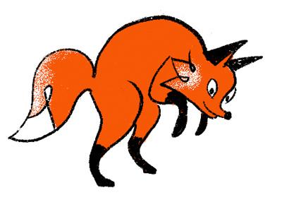Fox jumping orange logo character orange hunt orange is the new black hunting fox orange fox