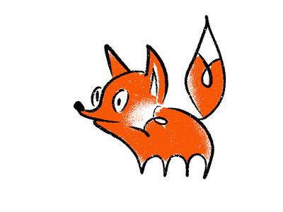 Fox waiting cute scared thoughtful orange character fox