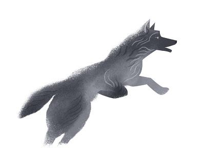 Running Wolf characterdesign character animal grayscale texture fur wolf running
