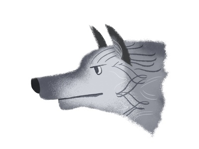 wolf canine characterdesign pattern texture character ears fur wolf profile
