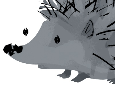 hedgehog - 1/3 done character design cute nose prickly gray animal illustration illustration art character hedgehog