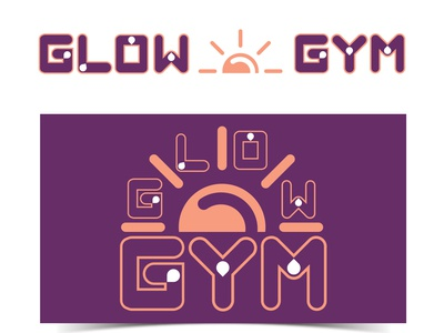 Glow GYM Logo and Branding