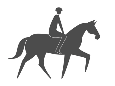 Horse Rider Sign horse racing horse logo yield tail trail trail use interpretive panel park silhoutte rider helmet sign horse rider