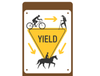 Yield Sign for Multi Use Trail