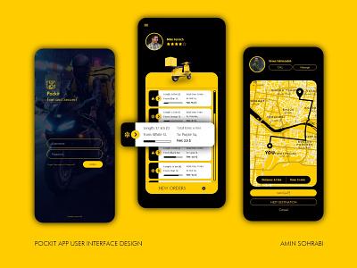 POCKIT APP UI DESIGN uiux ux design adobexd adobe xd app design ui design uidesign ui