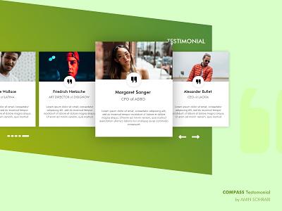 Compass SaaS - Testimonial card design card testimonials testimonial saas landing page adobe xd uidesign ui saas website saas