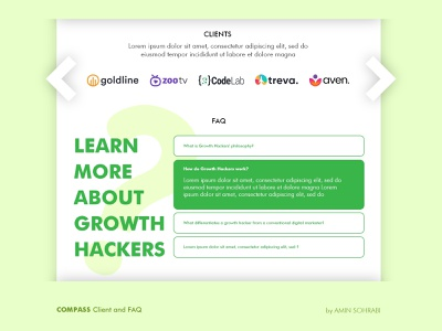Compass SaaS - Web UI faq clients adobe xd web design webdesign product design uiux ui web
