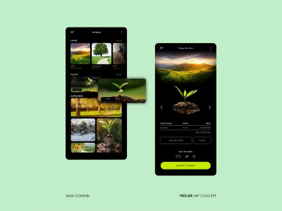 Treejer App Concept Design uiux figma treejer userinterface ui app