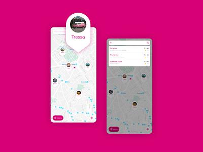 Vanfood Map app design design app map search uidesign figma
