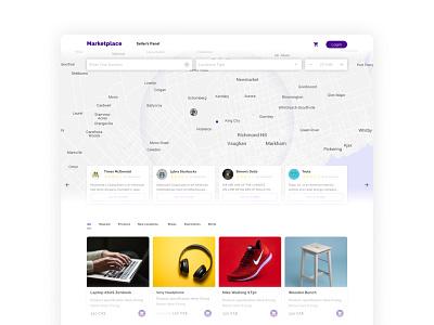 Marketplace Home Page product design ui design marketplace website landing