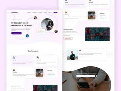 Marketplace Campaign Landing Page onepage campaign marketplace website landing ui