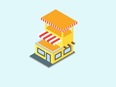 Home and Shop Isometric Design home illustrator isometric design isometric