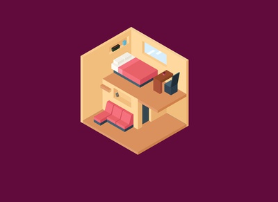 Home Furniture Isometric Design