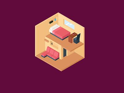 Home Furniture Isometric Design sofa home illustrator isometric design isometric