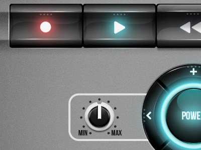 UI WIP ui hardware software buttons menu interface music rack
