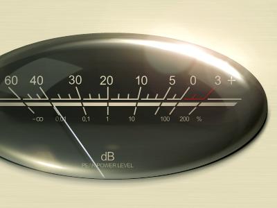 Progress Peak meter ui gui user interface modern iphone web elements buttons app controls controls dials sliders music