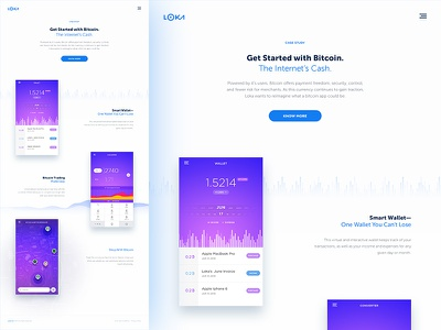 Bitcoin Concept: A Case Study. mobile ios typography study case ui ux webdesign website template bitcoin case study