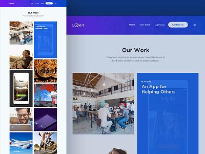 Loka Website Redesign website redesign mobile work mobile apps our work redesign design website web