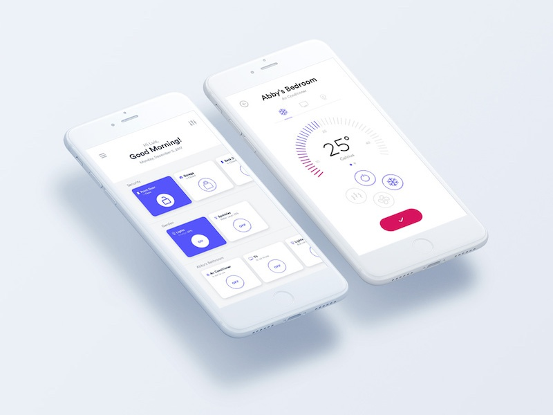 Smart Home - iOS app energy control ux ui iphone mobile smart house ios iot smart home