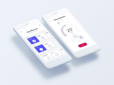 Smart Home - iOS app energy control ux ui iphone mobile smart house ios iot smart home