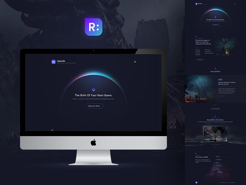 Game Company Website ux user interface ui web design game website
