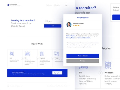 Trouble recruiting a recruiter? ux ui profile search tech talent recruitment recruit application web app webapp