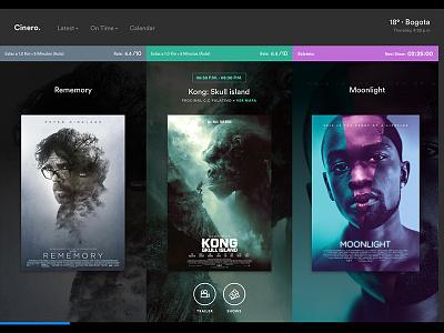 Lights, Camera, Cinero website webpage movies tickets cinema ux ui design