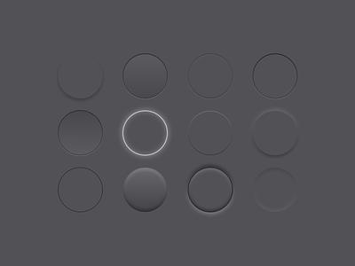 Button Study shadows figma modern neumorphism study buttons skeumorphism