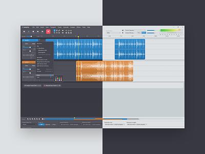 Audacity Visual Redesign figma creative tools audio editor audio opensource redesign ui design audacity