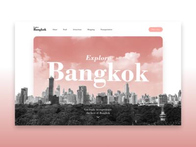 #DailyUI 003 - Landing Page tourism bangkok landing page 003 dailyui 003 dailyui