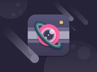 #DailyUI 005 - App Icon app icon color spacecam camera space dailyui 005 dailyui