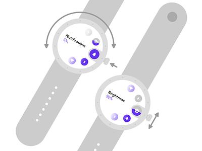 #DailyUI 007 - Settings hardware interface physical interaction wearables watch smartwatch settings dailyui007 dailyui