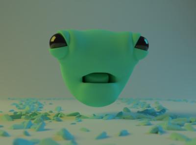 Green Alien green blender3d alien 3g