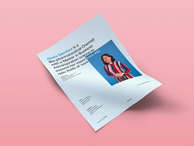 Alexia Sánchez Resume typedesign cv design type grid resume cv graphic design